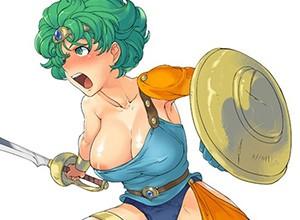 【ドラゴンクエスト4】緑髪がトレードマークな女勇者の二次エロ画像