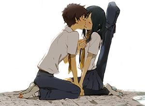 【キス】ベロチューしてるカップルの二次エロ画像