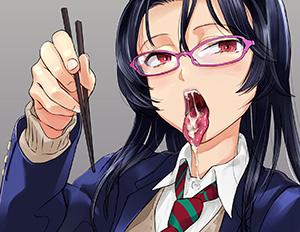 【しゃぶってあげようか?】舌出してる女子の二次エロ画像
