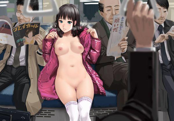 【伝統】「コートの下は裸」そんなクラシカルスタイルで野外露出する二次エロ画像 【16】