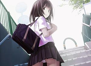 【二次】リアルでも遭遇したい女子高生のパンチラ画像