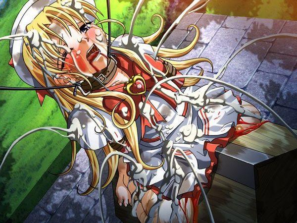 【避けちゃう】三角木馬に乗せられてマンコが痛そうな拷問二次リョナ画像 【35】
