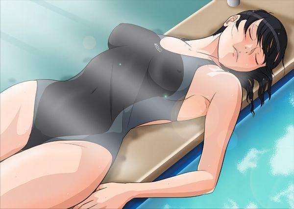 【ポッチ】乳首が思いっきり浮いてる競泳水着の二次エロ画像 【10】