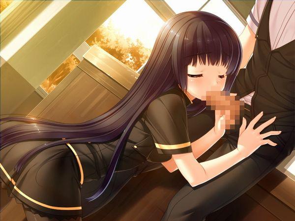 【挿入はNG】学校内で彼氏に頼まれフェラチオしてる女子高生の二次エロ画像 【33】
