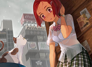 【梅雨の風物詩】突然の雨に打たれると夢中で探したくなるJKの透けブラ画像