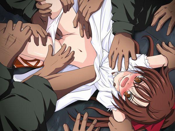 【悪夢】輪姦されてる悲惨な二次レイプ画像 【13】