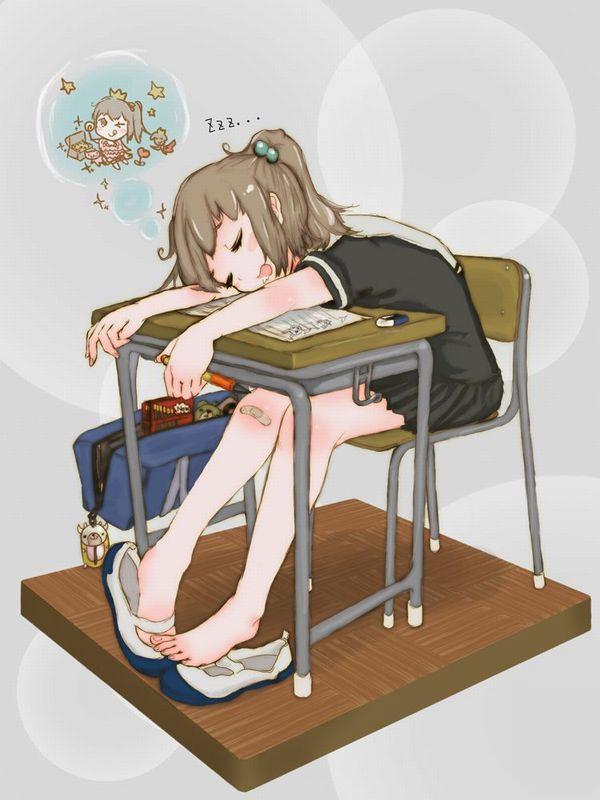 【悪戯・睡眠姦有り】涎垂らして寝てる女の子の二次画像 【20】