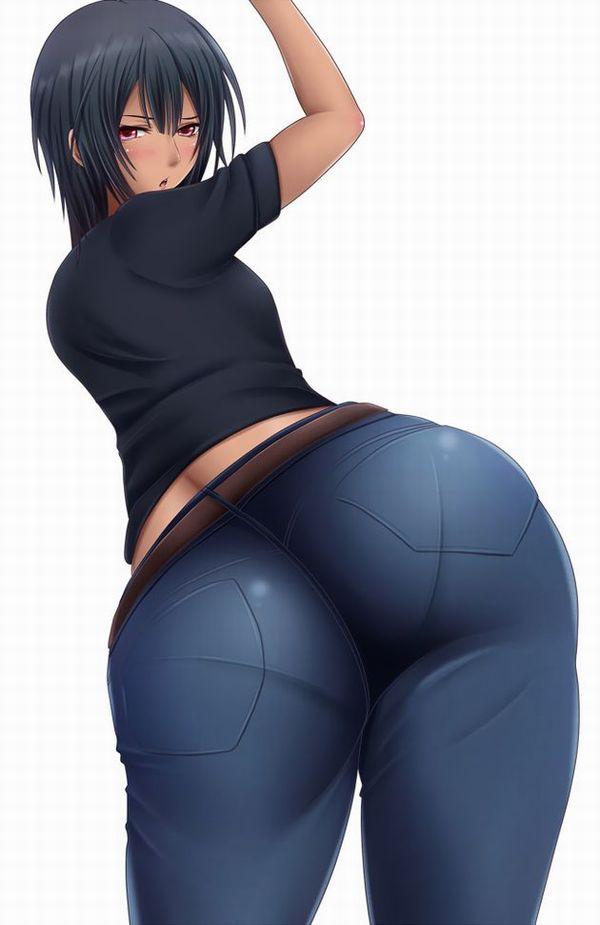 【デニム女子】ジーンズはいてるお尻がそそる二次エロ画像 【2】