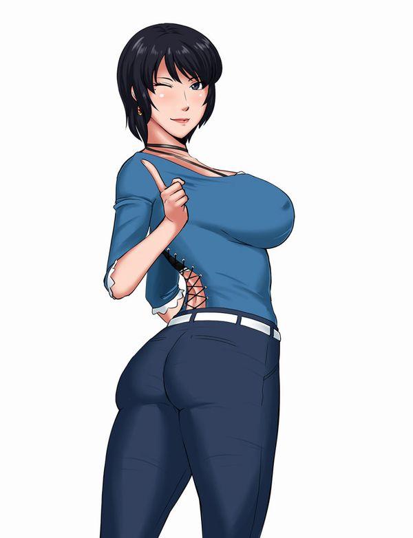 【デニム女子】ジーンズはいてるお尻がそそる二次エロ画像 【11】