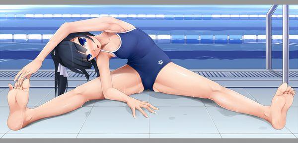 【あの頃】学校のプールで水泳の授業を受けるスク水美少女達の二次エロ画像 【25】