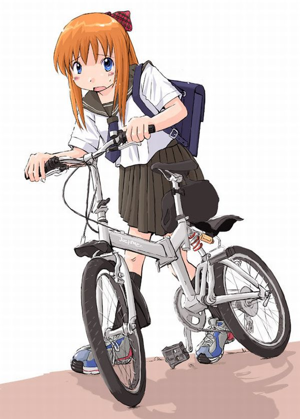 【日常風景】家が少し遠いから・・・自転車通学してる女子高生の二次画像 【26】