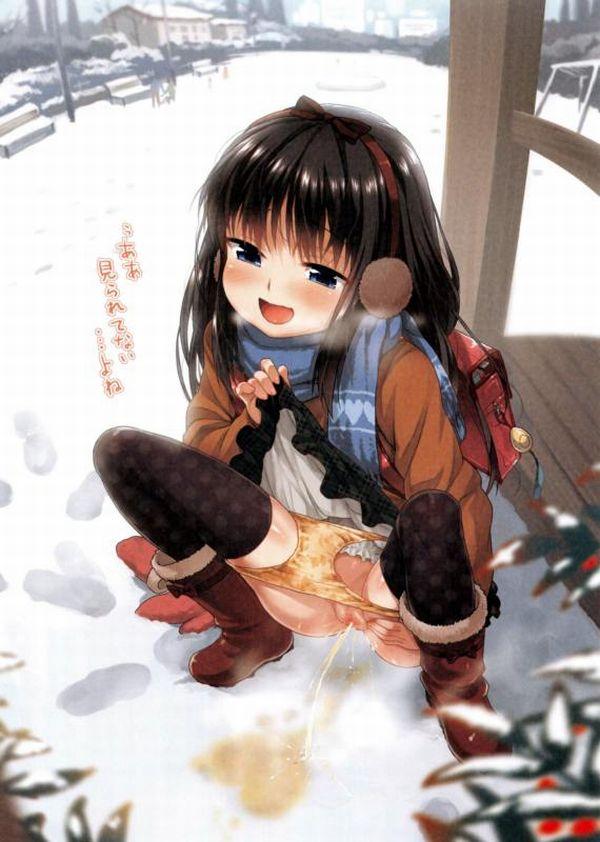 【趣味】露出狂の女の子が野外でオシッコしてる二次エロ画像 【17】