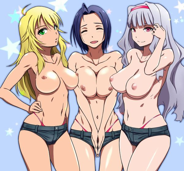 【トップレス】何故か上半身だけ裸な女子達の二次エロ画像 【5】
