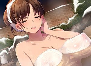 【コラッ!】手ぬぐいを湯船に入れてるマナー違反な女子達の温泉二次エロ画像