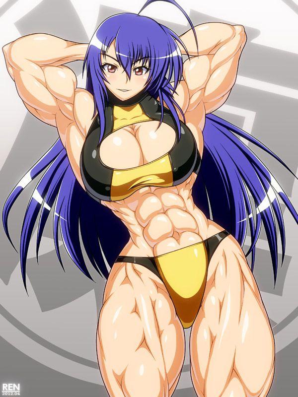 【筋肉女子】腹筋が物凄い割れ方してる女子達の二次エロ画像 【36】