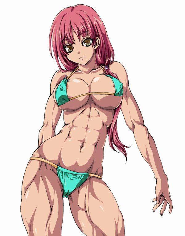 【筋肉女子】腹筋が物凄い割れ方してる女子達の二次エロ画像 【38】