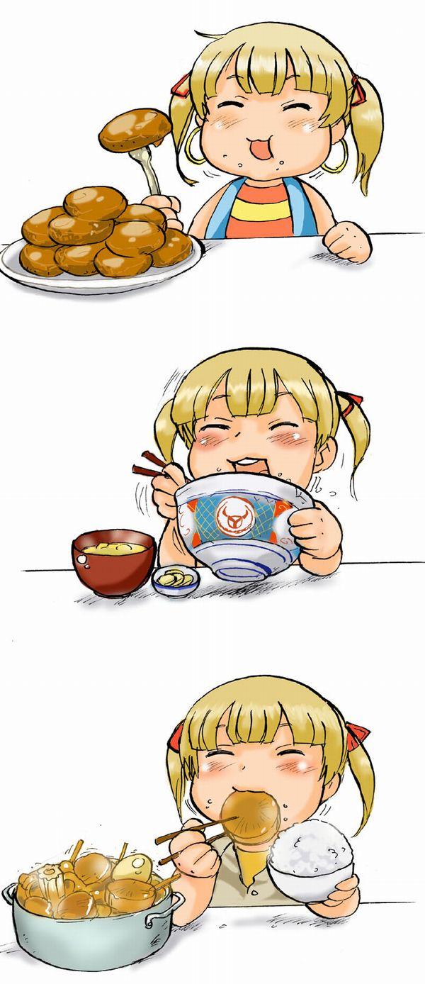 【飯テロ】女の子が美味しそうに食事してる二次画像【25】
