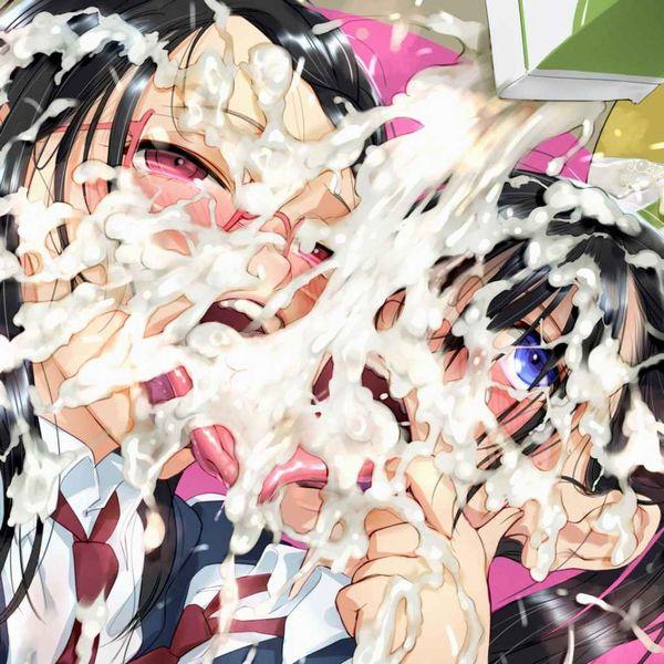 【臭そう】複数人にぶっかけられて全身精液塗れになってる二次エロ画像【2】