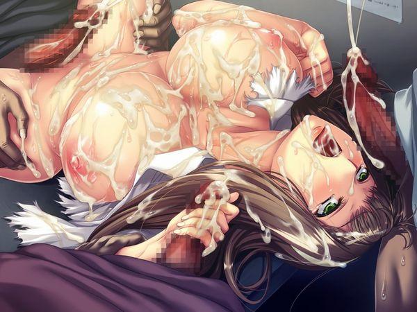 【臭そう】複数人にぶっかけられて全身精液塗れになってる二次エロ画像【13】