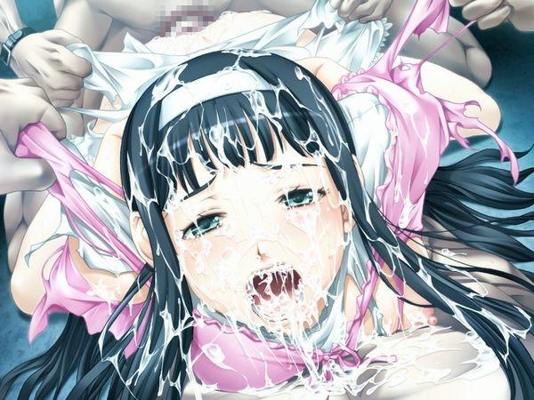 【臭そう】複数人にぶっかけられて全身精液塗れになってる二次エロ画像【17】