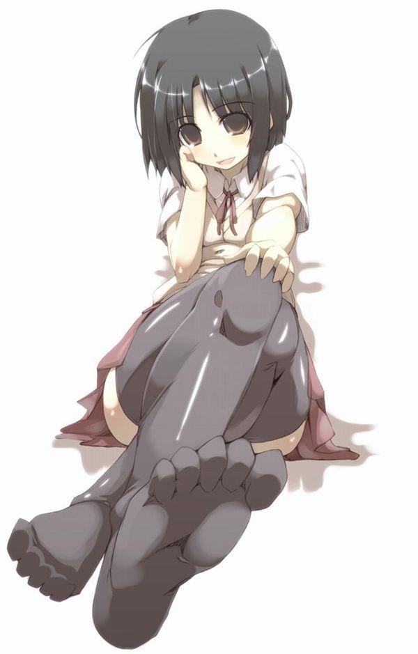 【嗅いでみる?】パンスト・タイツを履いた足を突き出してる二次エロ画像 【22】