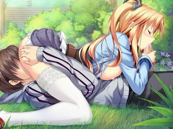 【ハート強すぎ】青姦なのにシックスナインまでしてる二次エロ画像 【31】