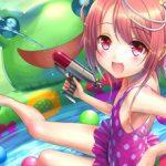 【おこちゃま】子供っぽい水着着てる二次エロ画像
