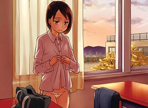 【僕達があの日遭遇を渇望した光景】学校内で着替えてる女子高生の二次エロ画像