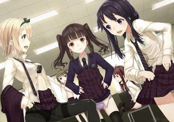 【僕達があの日遭遇を渇望した光景】学校内で着替えてる女子高生の二次エロ画像 【38】