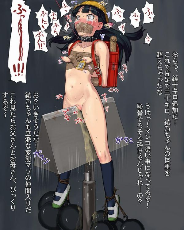 【拷問】三角木馬に乗せられて辛そうな二次エロ画像 【36】