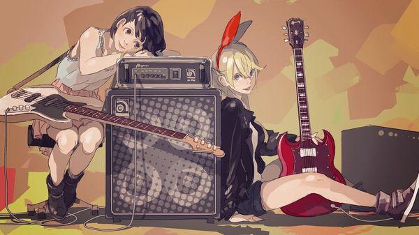 【ノリアキisリアル】ギターと女の子の二次画像 【1】