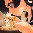 【寒い夜にはラーメン(至言)】ラーメン食べてる女の子達の二次画像