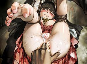 【アナル開発】尻の穴をほじられてる女子達の二次エロ画像