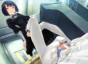 【一歩間違えると惨事】チンコ踏み付けられてる二次エロ画像