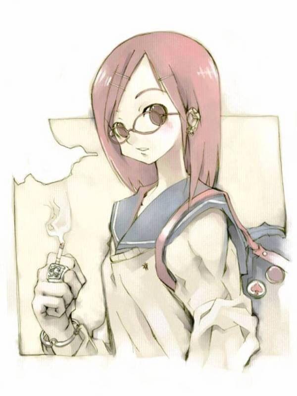 【ちょっと一服】タバコ吸ってる女の子の二次画像 【14】