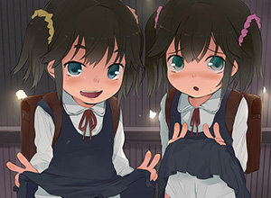 【瓜二つ】双子と3Pしてるっぽい二次エロ画像