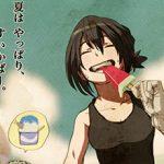 【定番のアイス】スイカバー食べてる女の子達の二次画像