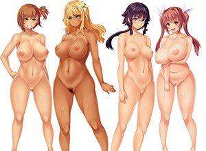 【どれにしようかな?】女の子達が全裸で立ってる二次エロ画像