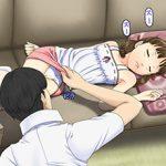 【起きたら修羅場】寝てる女の子に悪戯してる二次エロ画像