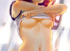 【脱衣】洋服脱ごうとしておっぱい見えてる二次エロ画像