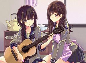 【サブカル好きそう】アコースティックギターと女の子の二次画像