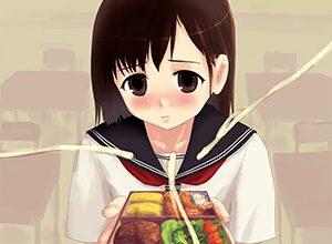 【食ザー】精液ぶっかけた食べ物を無理矢理食わされてる二次エロ画像
