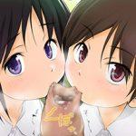 【ダブルフェラ】2人の女の子が両サイドからチンコを責める二次エロ画像
