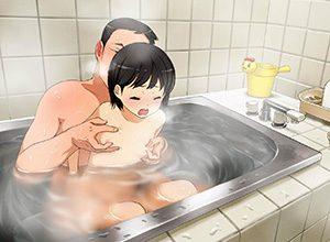 【同棲カップルの日常】彼女と湯船に漬かったら・・・とりあえずおっぱい揉むよね?って二次エロ画像