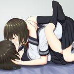 【思春期の過ち】女の子同士で軽くレズってる制服JK達の二次エロ画像