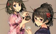 【お正月だから】お餅うにょ~んしてる美少女達の二次画像