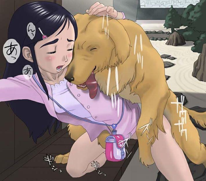 【戌年なので】性的な意味で犬が好きな女子達の獣姦二次エロ画像【38】