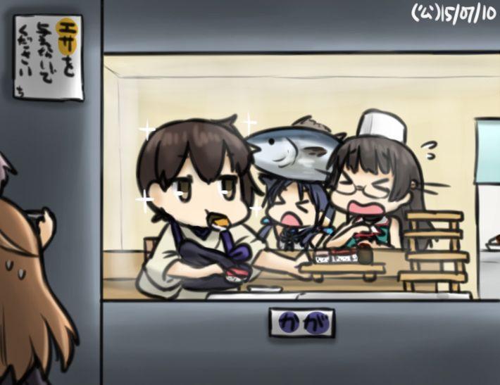 【SUSHI食べたい】寿司食べてる女の子達の二次エロ画像【14】