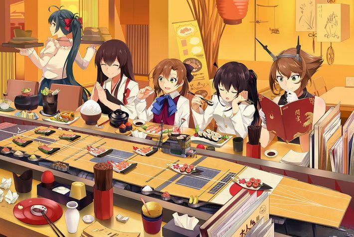 【SUSHI食べたい】寿司食べてる女の子達の二次エロ画像【22】