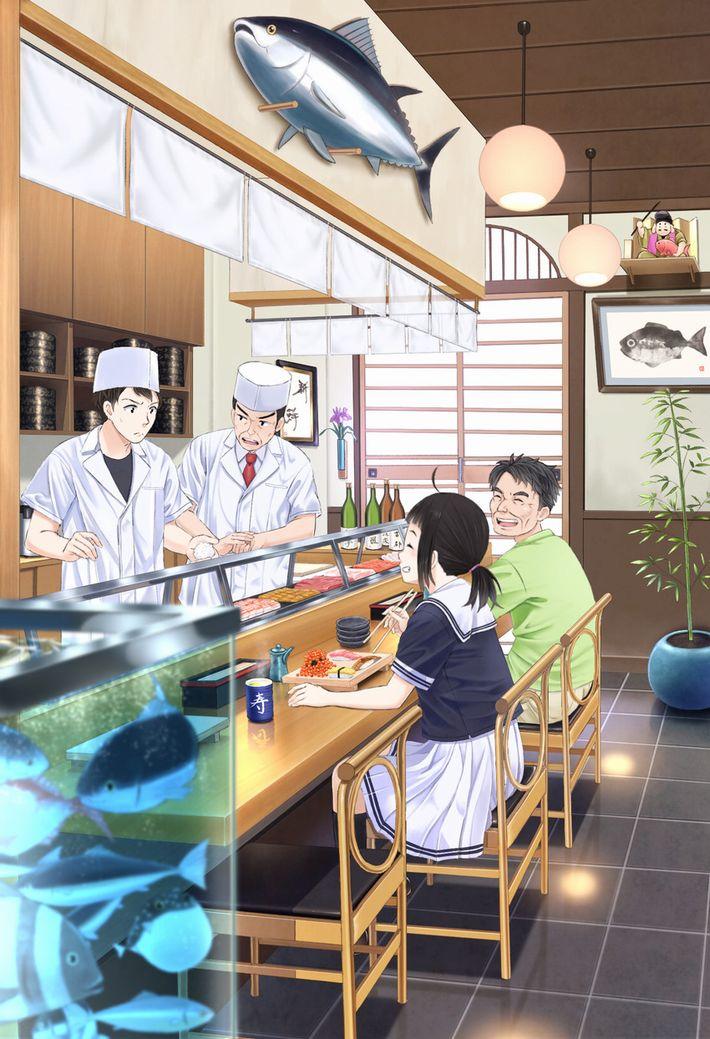 【SUSHI食べたい】寿司食べてる女の子達の二次エロ画像【37】
